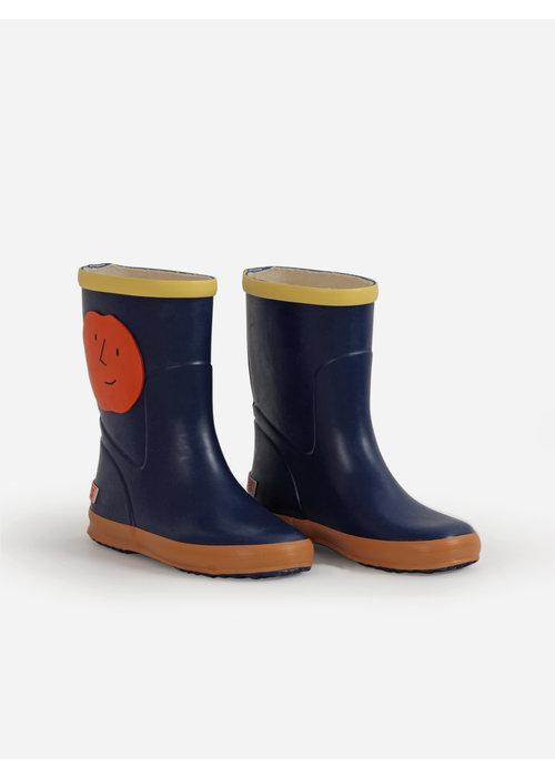 Bobo Choses Bobo Choses Orange Faces rain boots