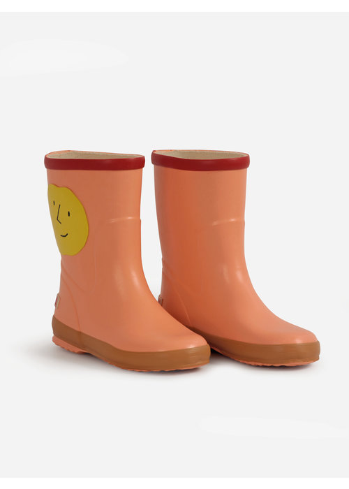 Bobo Choses Bobo Choses Yellow Faces rain boots