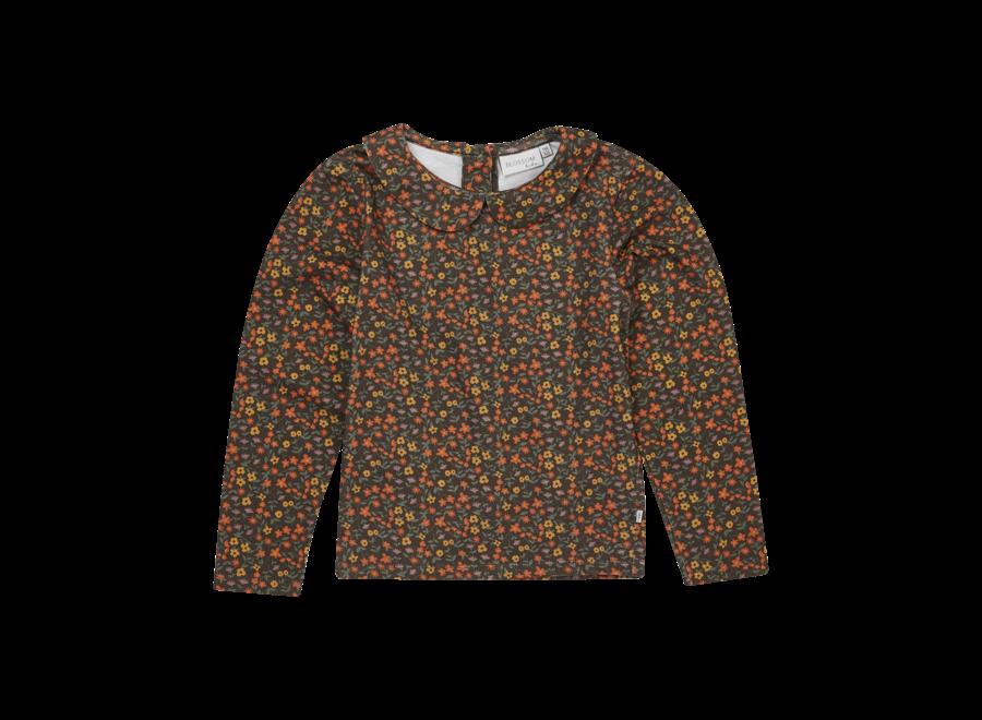 Blossom Kids Peter Pan Long Sleeve Shirt Flower Field
