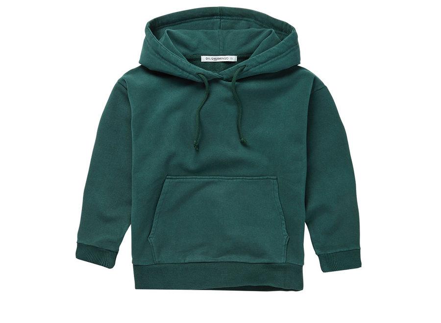 Mingo Hoodie Dark Emerald Sweat brushed