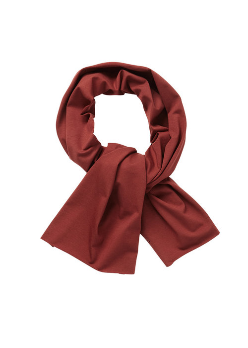 Mingo Mingo Scarf Brick Red Jersey
