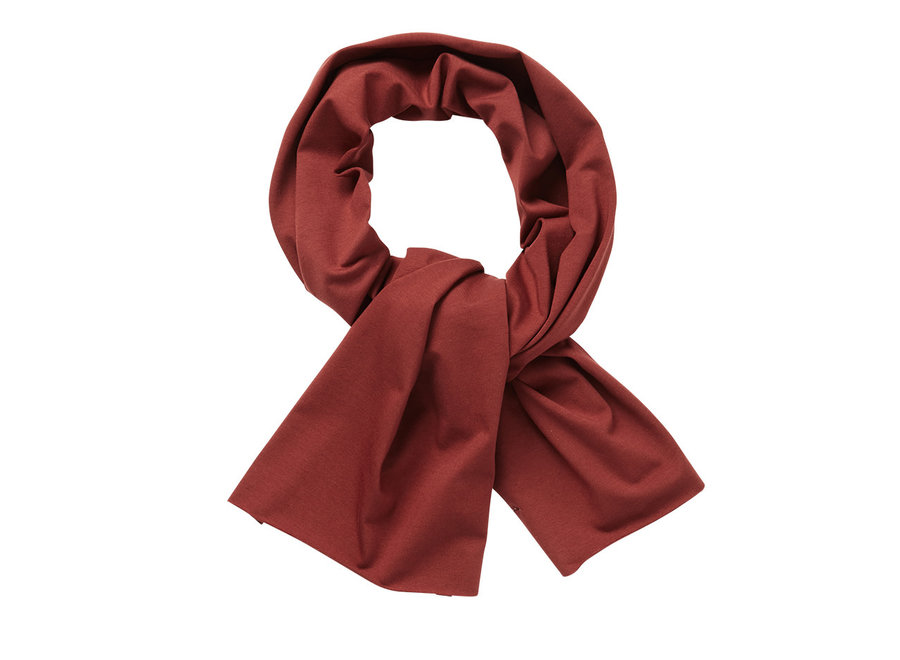 Mingo Scarf Brick Red Jersey