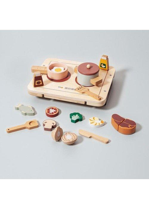 Petit Monkey Petit Monkey Houten Kook en Diner Set