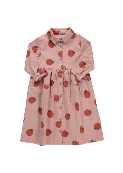 PiuPiuChick PiuPiuChick Long Shirt Dress light pink peaches allover