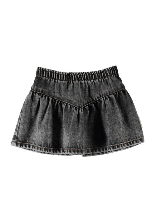 PiuPiuChick PiuPiuChick Short Skirt 'v' shape washed black denim