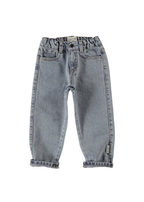 PiuPiuChick PiuPiuChick Unisex Denim Trousers washed light blue denim