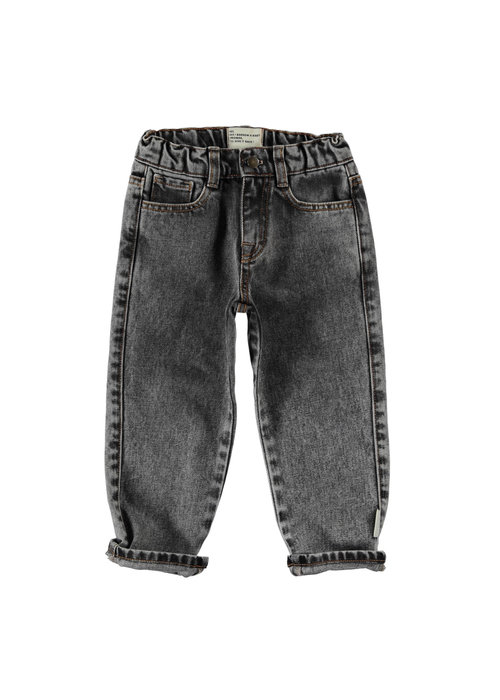 PiuPiuChick PiuPiuChick Unisex Denim Trousers washed black denim