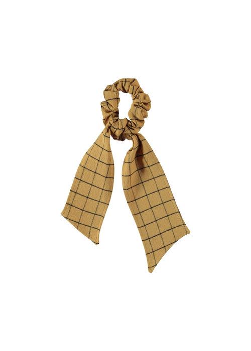 PiuPiuChick PiuPiuChick Elastic Hair Band checkered camel