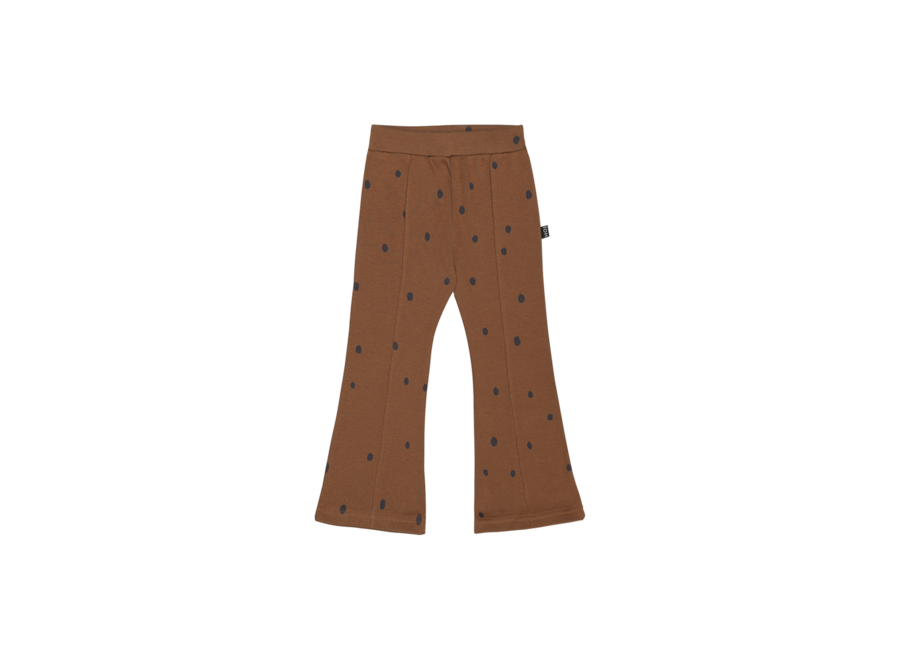 House of Jamie Flared Pants Ginger Bread Dots