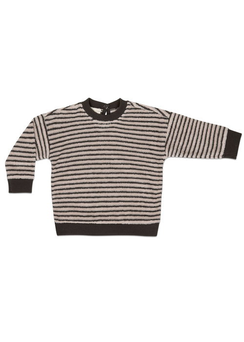 Phil&Phae Phil&Phae Baby Sweater Loopy Stripes Graphite