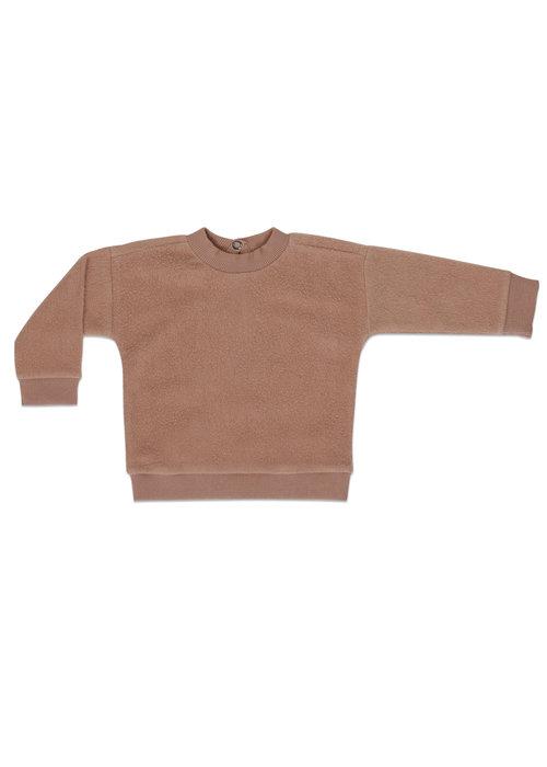 Phil&Phae Phil&Phae Teddy Baby Sweater Creamy Mocha