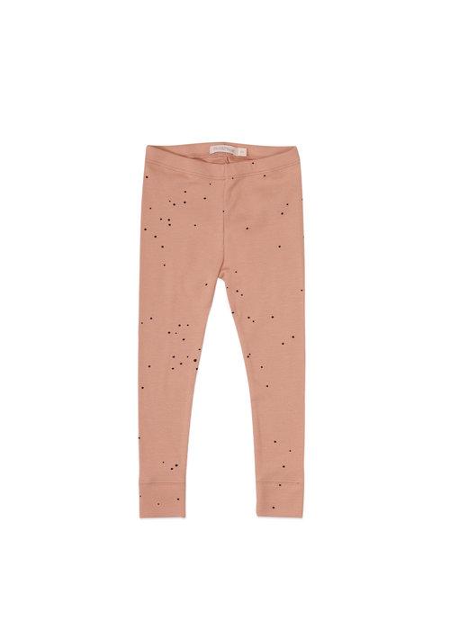 Phil&Phae Phil&Phae Rib Legging Dots Warming Peach