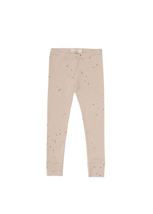 Phil&Phae Phil&Phae Rib Legging Dots Warm Cream