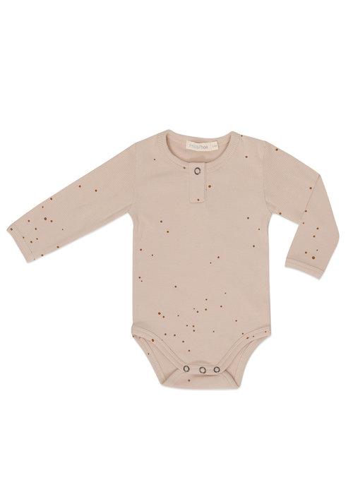 Phil&Phae Phil&Phae Rib Henley Body l/s Dots Warm Cream