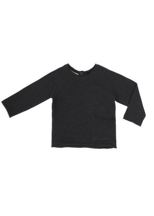 Phil&Phae Phil&Phae Raw-edged Baby Sweater Charcoal