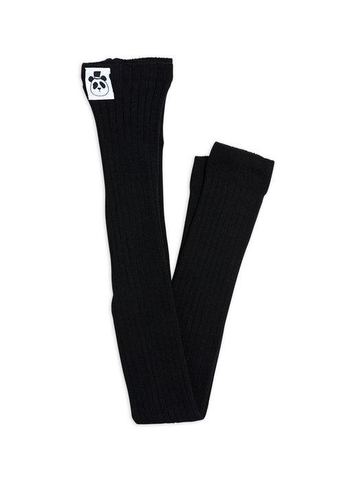 Mini Rodini Mini Rodini Ribbed Leggings Black