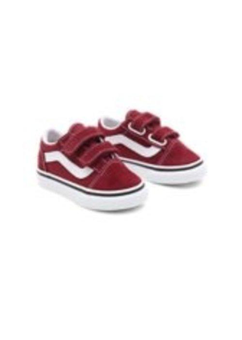 VANS Vans Toddler Old Skool Pomegranate/True White