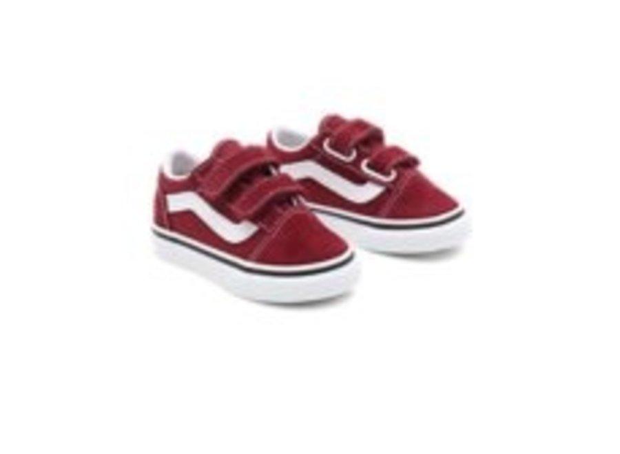 Vans Toddler Old Skool Pomegranate/True White