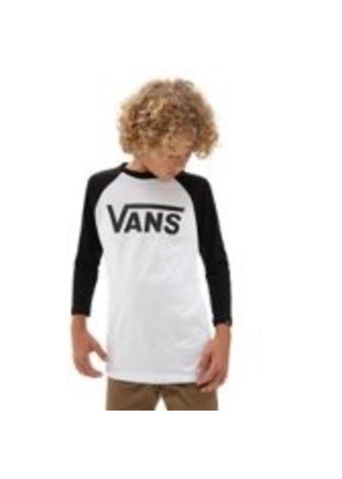 VANS Vans Classic Raglan Tee White/Black