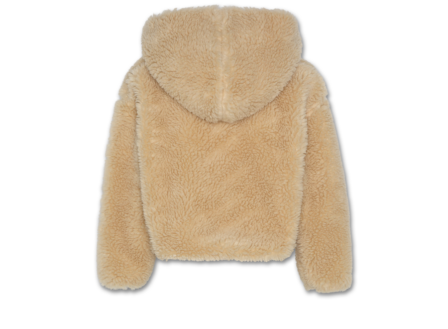 AO76 Wide Hoodie Full Zip Fur Dark Natural