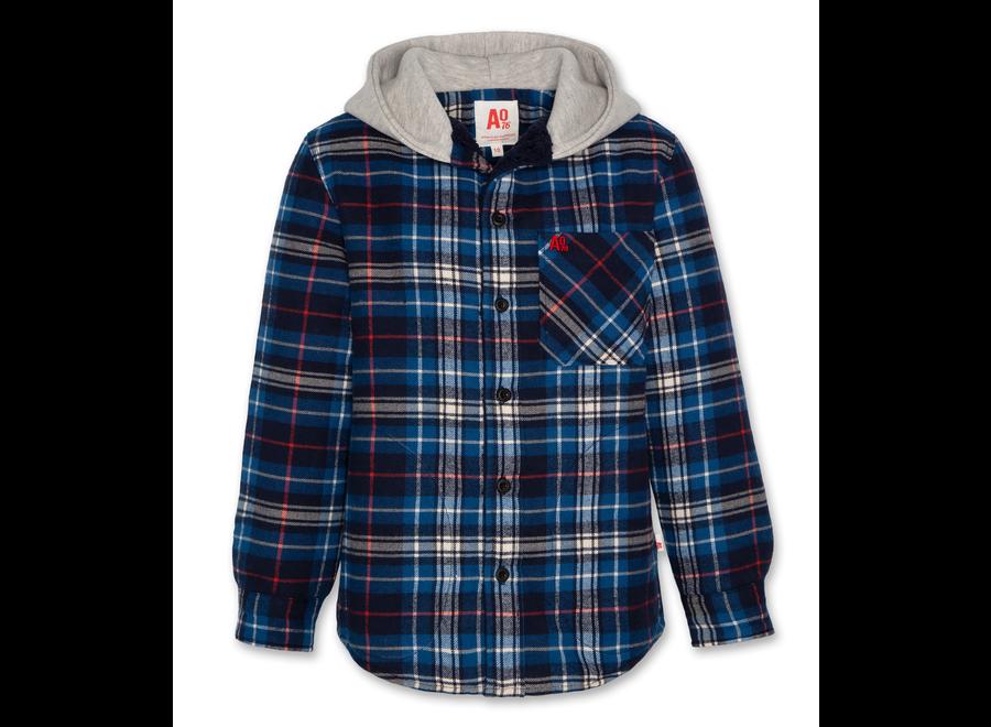 AO76 Hoody Innaq Shirt Blue