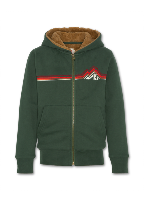 AO76 AO76 Hoodie Full Zip Fur Green