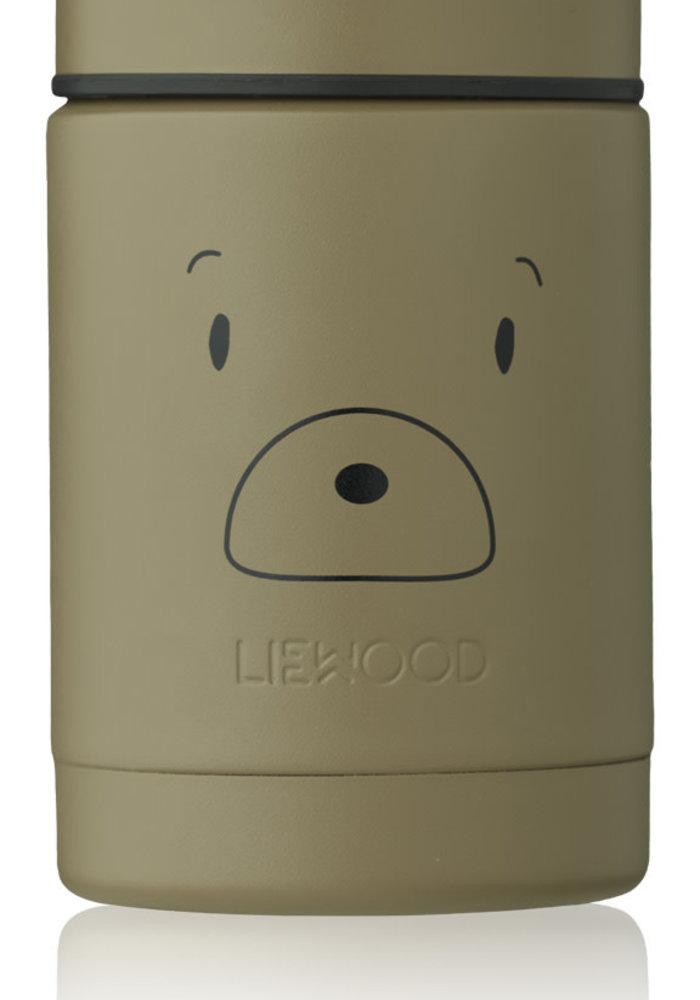 Liewood Nadja Food Jar Mr Bear Khaki