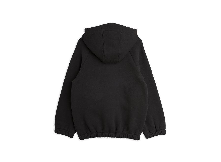 Mini Rodini Blackbird halfzip hoodie Black