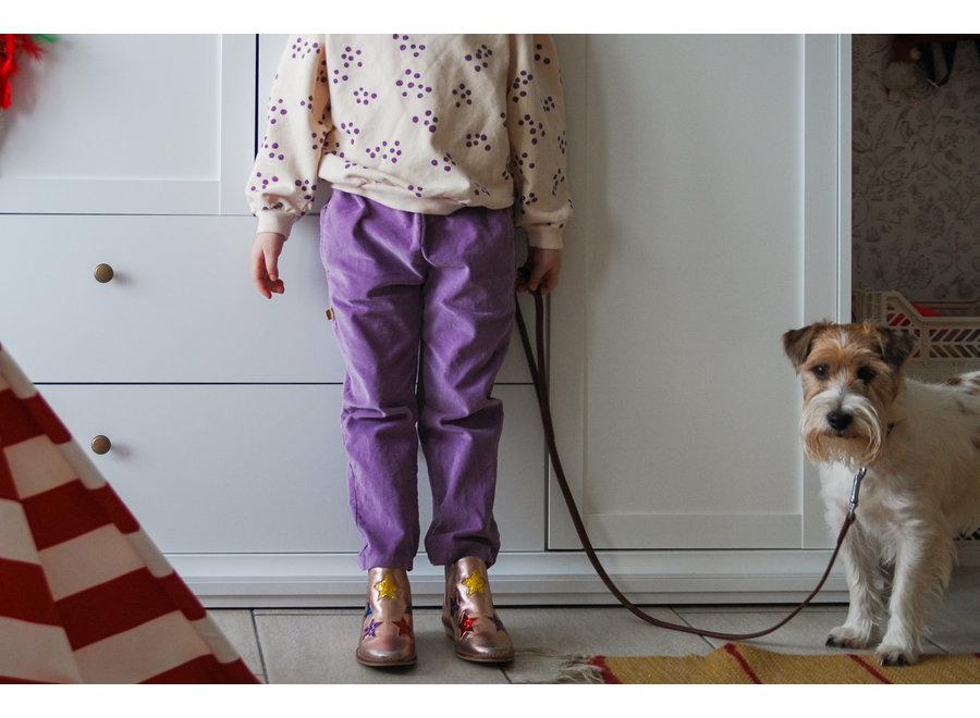 Lötiekids Velvet Trousers Solid Lilac