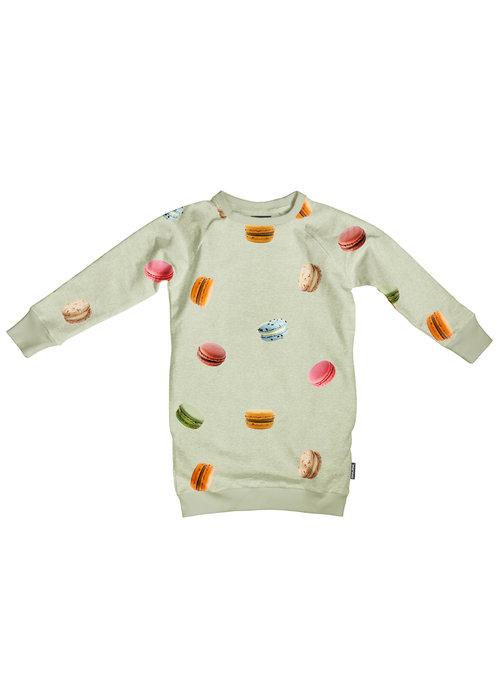 SNURK SNURK Macarons Green Sweater Dress Kids