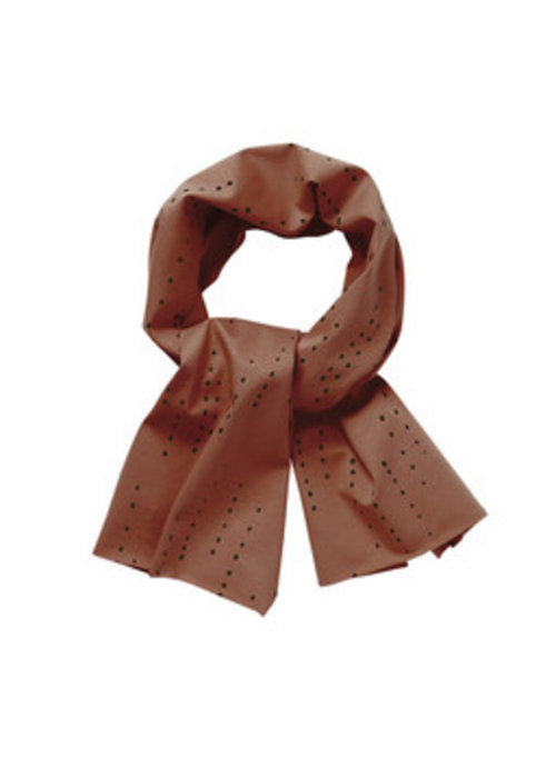 Mingo Mingo Scarf Dewdrops Burnished Leather Jersey
