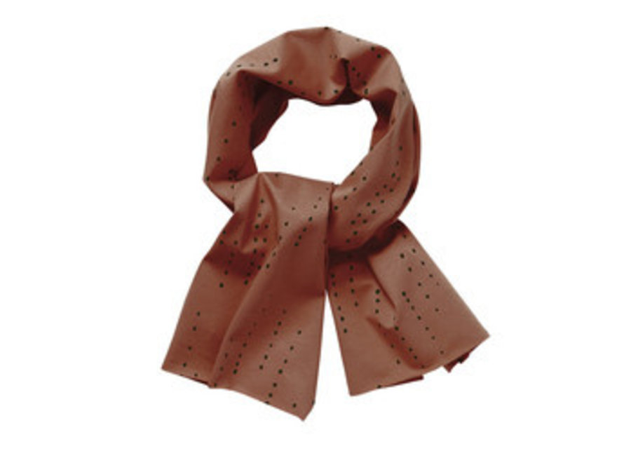 Mingo Scarf Dewdrops Burnished Leather Jersey