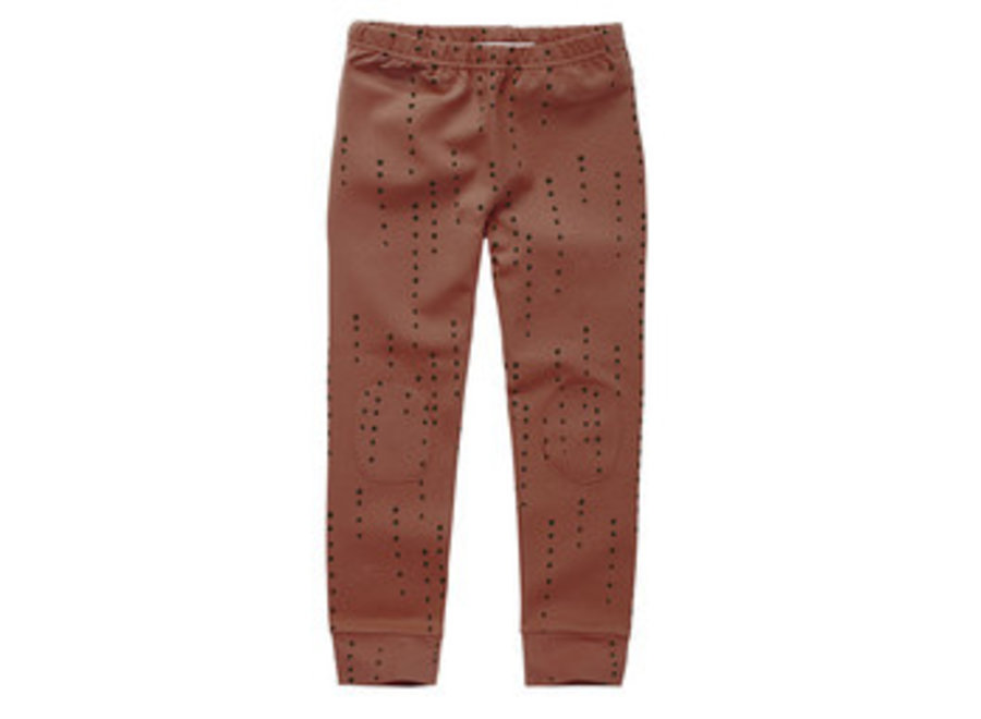 Mingo Legging Dewdrops Burnished Leather Jersey