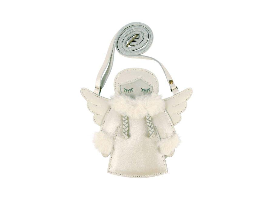Donsje Toto Purse Snow Fairy Off White Metallic Leather