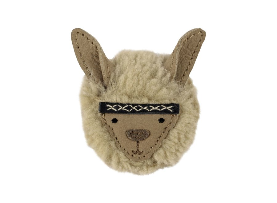 Donsje Josy Exclusive Hairclip Alpaca Beige Curly Faux Fur
