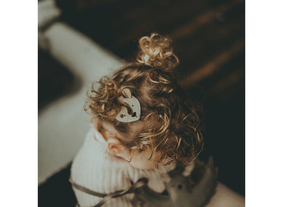 Donsje Josy Exclusive Hair Tie Snow Leopard Spotted Cow Hair
