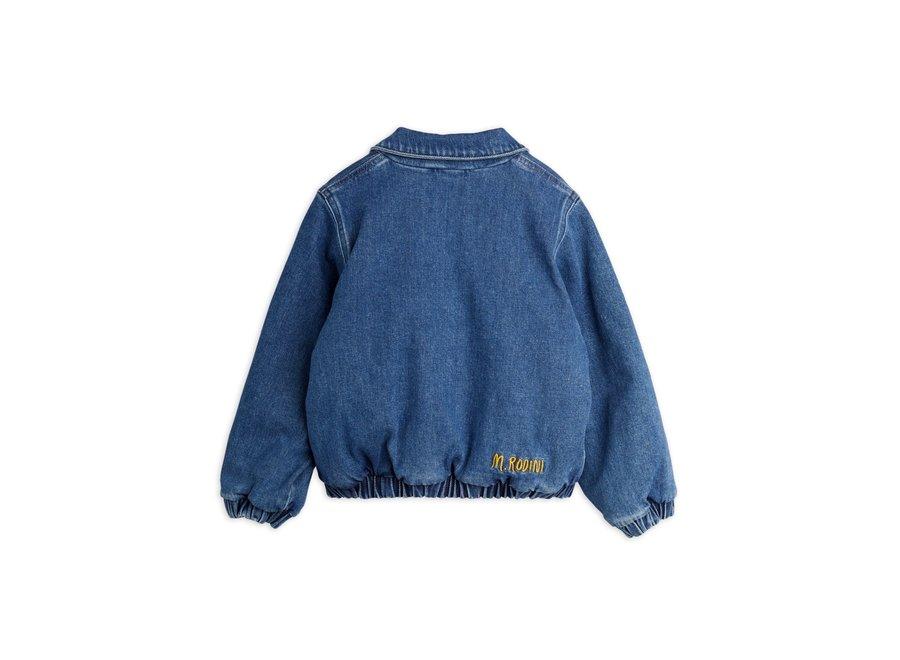 Mini Rodini Denim patch jacket Blue