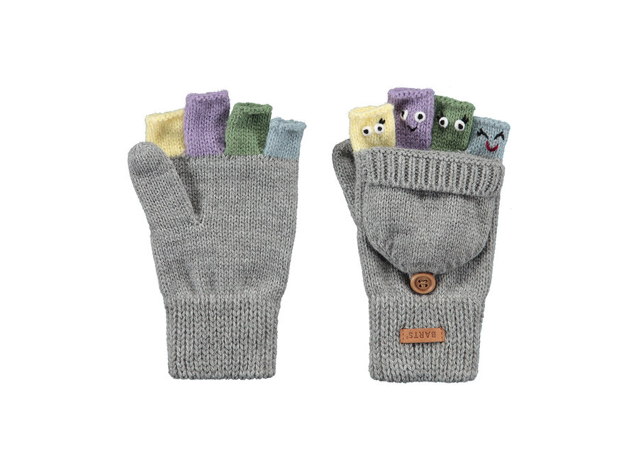 Barts Puppet Bumgloves Heather Grey