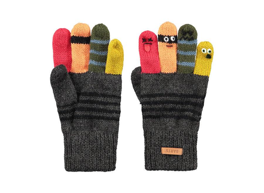 Barts Puppeteer Gloves Dark Heather