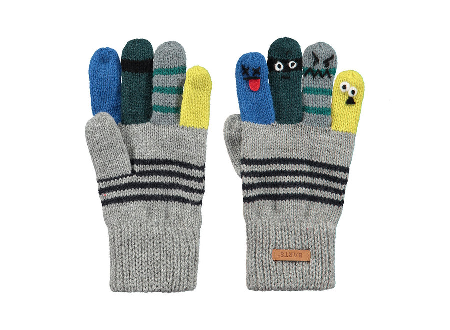 Barts Puppeteer Gloves Heather Grey