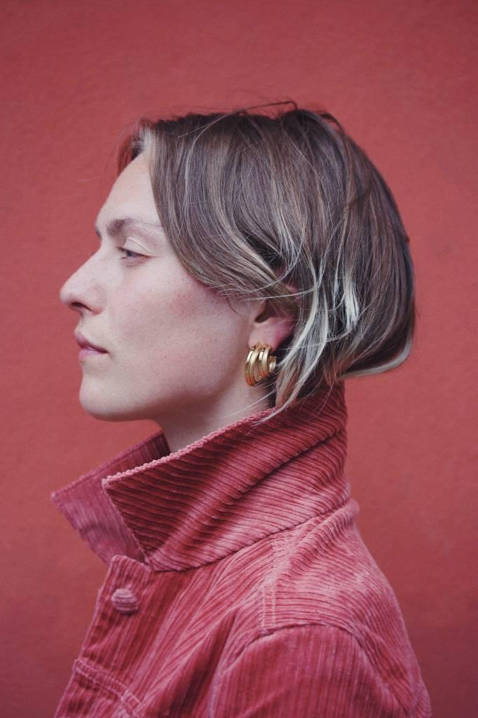 Jukserei Jukserei Earring Icon Gold