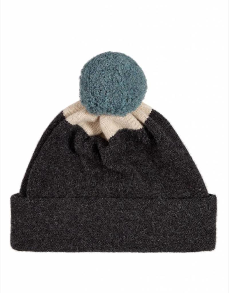 Jo Gordon Jo Gordon Pompom Hat Gray