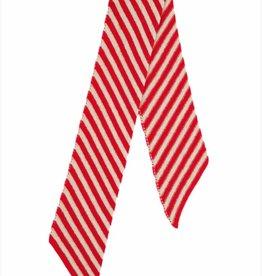Jo Gordon Scarf Small Stripe Red