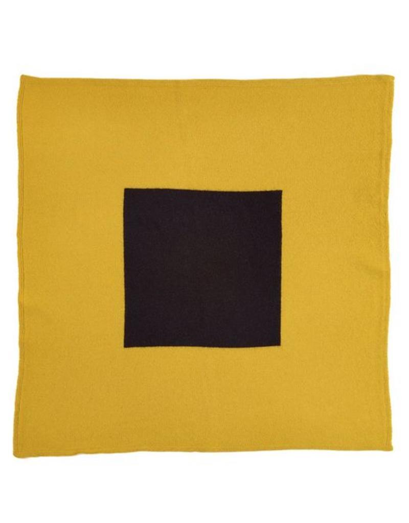 Jo Gordon Jo Gordon Scarf Square in Square Yellow/Black