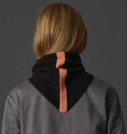 Jo Gordon Scarf Triangle Single Stripe Black/Pink