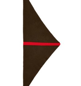 Jo Gordon Scarf Triangle Single Stripe Khaki/Red