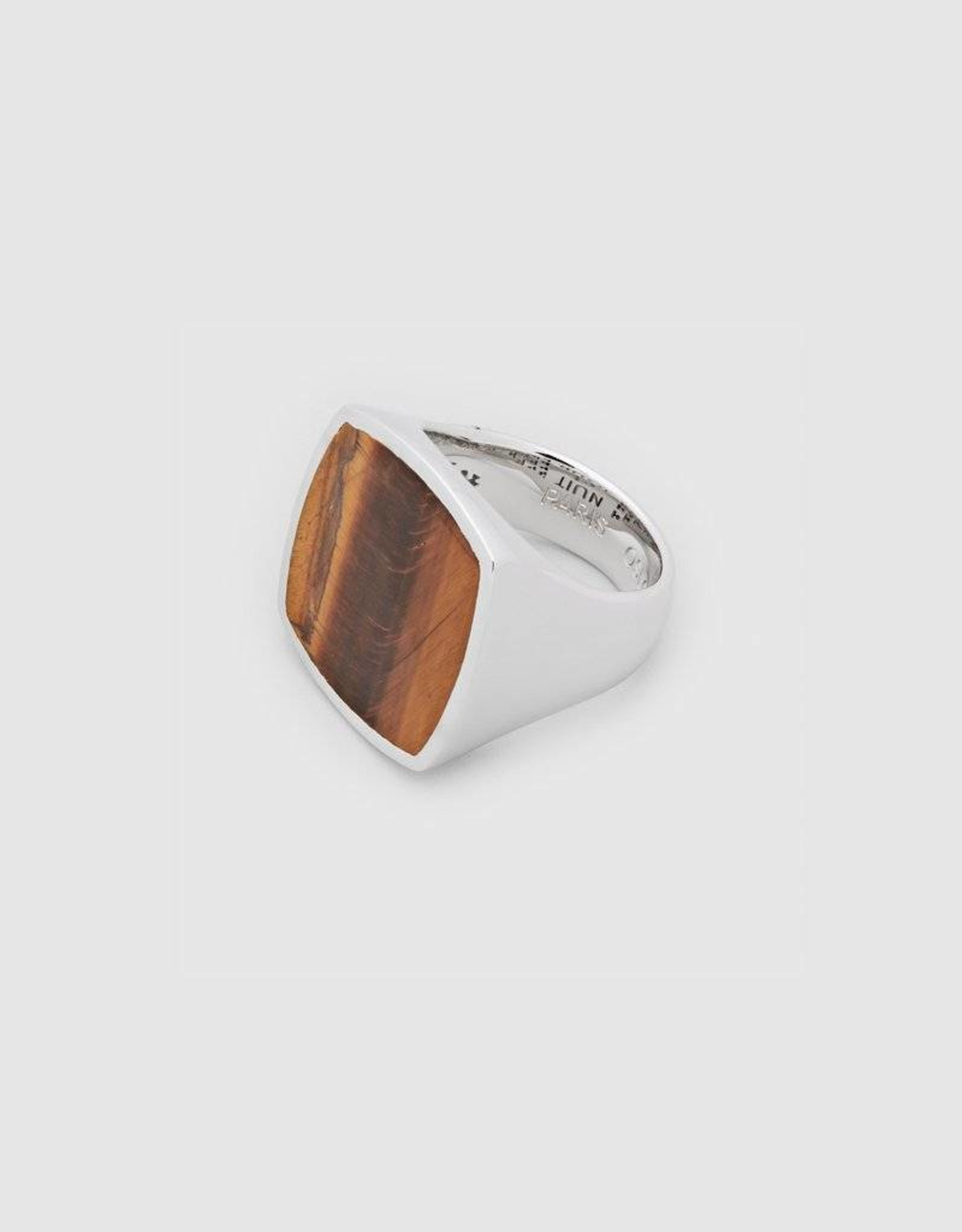 Tom Wood Tom Wood Ring Flush Tiger Eye Men (RFTEM)