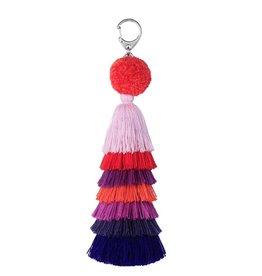 Verloop knits Bag charm red violet
