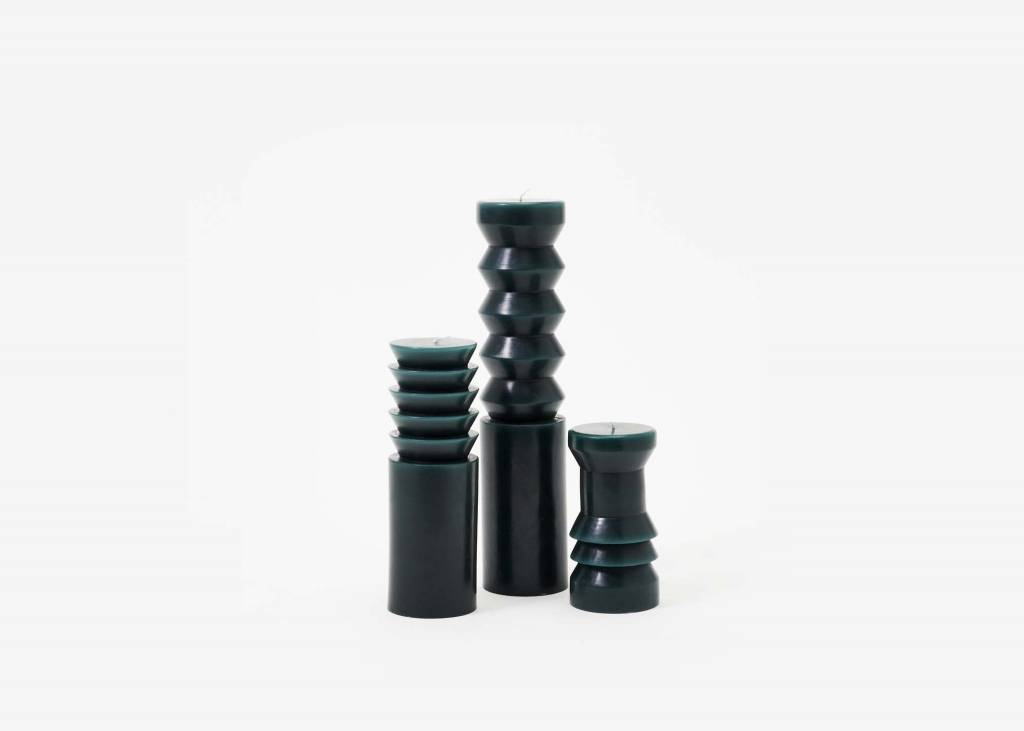 Areaware Totem Candle Pleat Large Forest