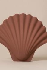 Les Objetos Decorativos Seashell Vase Terracotta